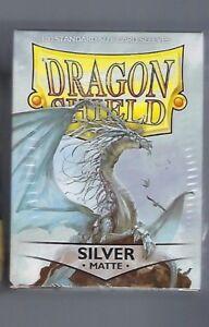 Dragon Shield Matte Silver (100) Shield Sleeves Free Shipping