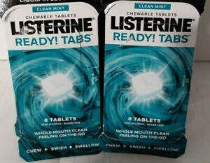 LISTERINE READY! TABS CHEWABLE TABLETS CLEAN MINT SUGAR FREE 144 Total