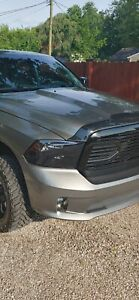 Used 2013-2018 Ram 1500 Smoked Headlights With LED LOW BEAMS INSTALLED