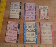 1960's Tropical Park Horse Racing track betting tickets lot Miami Florida 1959