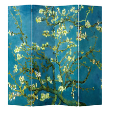 Room Divider Folding Screen 4 Panel Printed Canvas Oriental Asian Van Gogh 414
