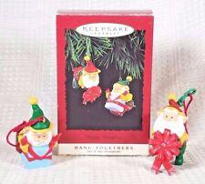 1995 Hallmark Keepsake HAPPY WRAPPERS Hang Together Ornaments w/Box