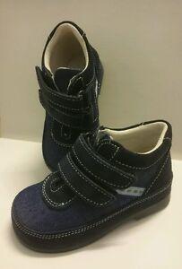 BABY Jungen Kinder Schuhe Herbst MADE IN ITALY Gr. 20 D.Blau Denim LEDER NEU