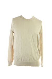 John Ashford Oatmeal Long-Sleeve V-Neck Sweater S