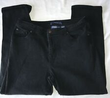 "Vintage Bill Blass Black Stretch Jeans Petite Womens Size 14P  32x27"" Blue Label"