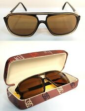 Vintage Persol Ratti sport 2 Sunglasses Size 54/16 Small Italy steel Rare brown