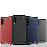 For Samsung Galaxy A7 2018 Slim Rugged Shockproof TPU Cover Brush Case