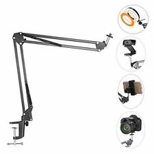 Overhead Tripod Mount For Camera Webcam Ring Light, Flexible Over Head Arm for