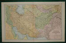 1905 ANTIQUE MAP ~ PERSIA AFGHANISTAN KERMAN FARSISTAN BALUCHISTAN KHORASSAN