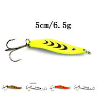 5cm/6.5g spoon lure bait for trout bass small hard sequins spinner spoon NT
