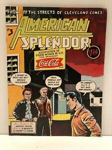 American Splendor Autobiographical Comic #3 Harvey Pekar 1978 Very Fine
