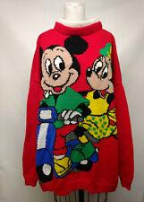 Vintage hand knit wool sweater Mickey & Mini Mouse Disney Men or Women 2XL 3XL
