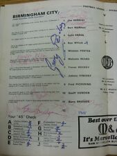 03/02/1968 Birmingham City v Blackpool [Autographed Inside By Approx 20 Palyers,