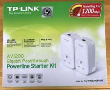TP-LINK AV1200 TL-PA8010P Gigabit Passthrough Powerline Starter Kit