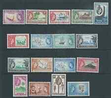BRITISH SOLOMON ISLANDS 1956 QE11 SET MINT HINGED FRESH LOOKING!