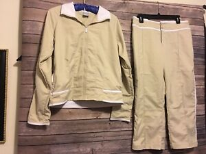 Nike Pant Suit Womens Size Medium/Large Crop Pants With Jacket Tracksuit