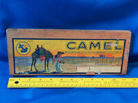 Antique Fruit Crate Side & Label Sign Wood Rare Camel California Blue Anchor