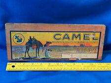 Antique Fruit Crate Side & Label Sign Wood Rare Camel California Blue Anchor