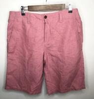 Lacoste Men's Shorts Size 34 Linen / Cotton Blend