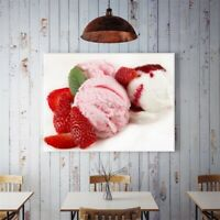 Yummy Ice Cream Canvas Poster Art Picture Prints Kitchen Wall Hanging Decor HY6