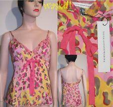 DIANE VON FURSTENBERG vintage 6 pink Leopard LELINA silk Cami top NWT Authentic!