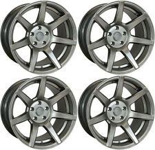 7 Twenty Style 55 Alloy Wheel Set Of 4 5X120 18X 9.5J ET15 Hyper Black Fits BMW
