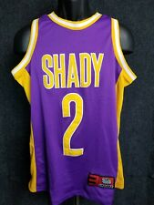 2000 Eminem Slim Shady Mmlp Lakers Purple Yellow Basketball Jersey Shirt Men's S