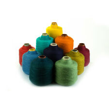 wool yarn on cone - lot of 4 kg (10-13 cones)- you choose your colors