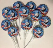 12 x Personalised Thomas The Tank Engine Birthday Party Lolly Pops