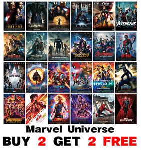 Marvel Superhero Movie Poster Film Poster Marvel Universe Movie Cinema Poster