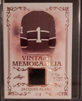 2019 - 2020 Leaf In The Game Used Jacques Plante Vintage Memorabilia 7/8 #VM-19