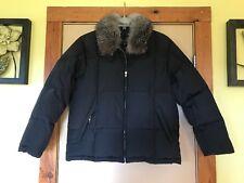 267d44e7f0f51 Women s Gallery Black Down Puffer Rabbit Fur Collar Winter Coat Size L