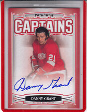 "2006-07 PARKHURST CAPTAINS  DANNY GRANT ""DETROIT RED WINGS""#180  AUTOGRAPH AUTO"