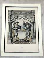 Antique Print Rare Limited Edition Royal Guard Heraldry Hans Holbein the Younger