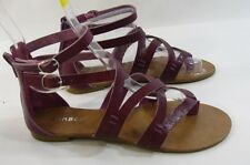 new ladies Summer PURPLE  Shoes Roman Gladiator sexy Sandal WOMEN Size 5.5