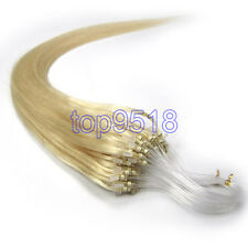 """16""""18""""20""""22""""24""""26""""Loop/Micro Ring Remy Human Hair Extensions More Color 100s"""