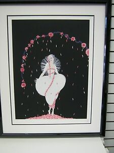 "Erte  "" Columbine "" Signed & Numbered Limited Edition Serigraph Framed"