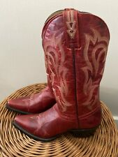 Shyanne Red Leather Western Boots 8 B