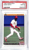 1992 Upper Deck Baseball Card #716_Ozzie Smith_PSA GEM MINT 10_HOF_Cardinals
