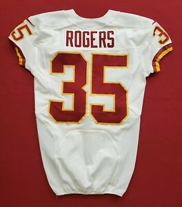 #35 Rogers of Washington Redskins NFL Game Issued Player Worn Jersey