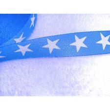 Gurtband in hellblau mit großen weißen Sternen  30 mm