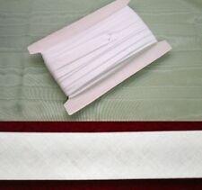 Bias Binding 25mm White Poly Cotton - 50 metres
