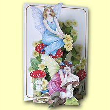 Pictoria Press Imported 3D Greeting Card - FAIRIES & TOADSTOOLS - #PIC-210