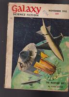 Galaxy Magazine November 1952 Isaac Asimov James E Gunn R Bretnor