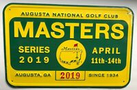 2019 Masters golf bar pub sign Tiger Woods wins badge style new augusta national