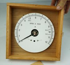 Vintage US Navy DB-16H 0 - 12000 RPM Tachometer. The Electric Tachometer Corp.