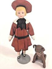 Artist Designed OOAK Shirley White 1981 Buster Brown & Tige Dog Set 2 Dollhouse