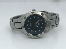 Fossil Blue Ladies Watch Silver Tone Water Resistant 100M 10ATM Analog WristWatc