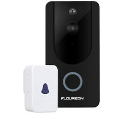 Floureon WiFi Wireless Remote Smart Video Doorbell With 720p HD Security Camera