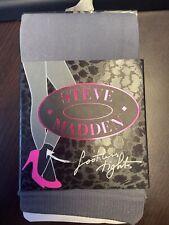 Steve Madden Brand Sweater Knit Footless Tights, Women's, Black, Sz. One - New
